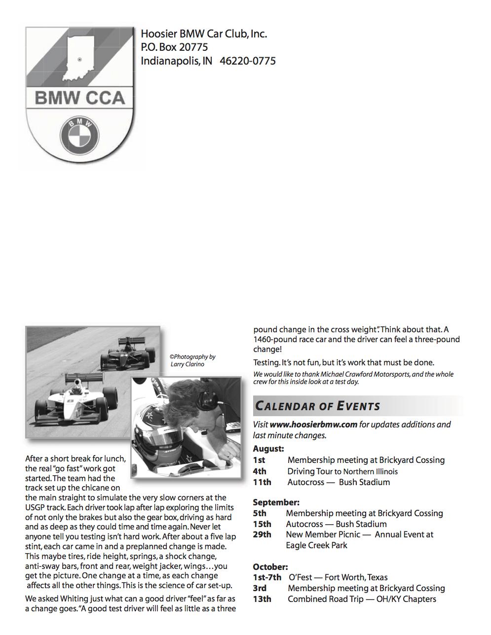 Hoosier BMW Newsletter